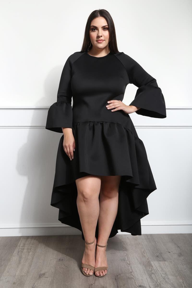 Detail View 2 Be My Belle Plus Size High Low Dress Clothes Design Plus Size Outfits Fashion [ 1200 x 800 Pixel ]
