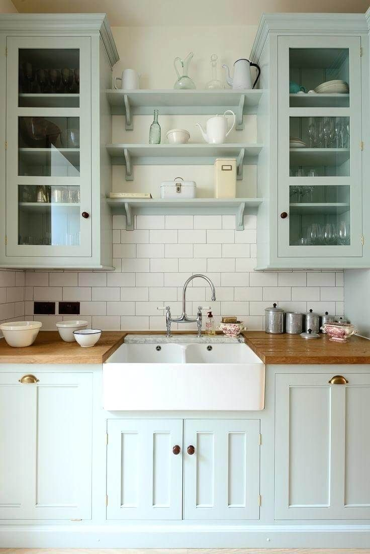 Non-White Farmhouse Kitchens - Seeking Lavender Lane