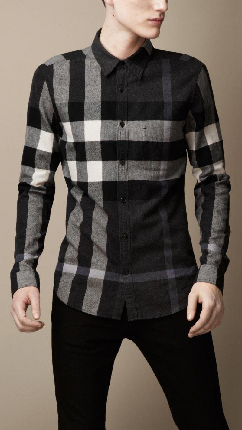 Burberry Exploded Check Flannel Shirt  mensshirts   Casual styles in ... d770d3f7eee