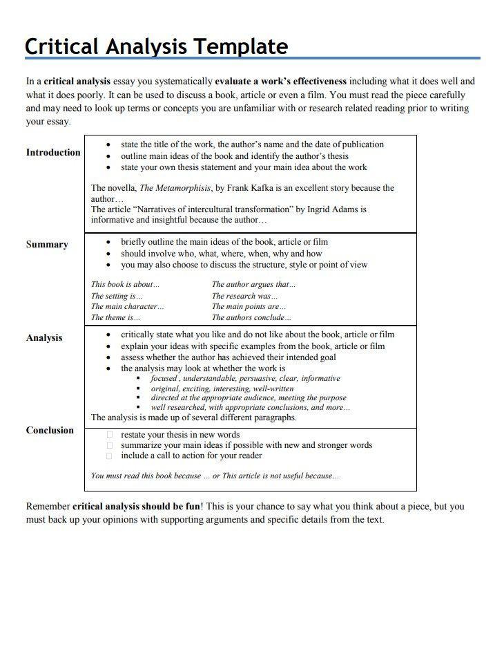 Do outline analytical essay