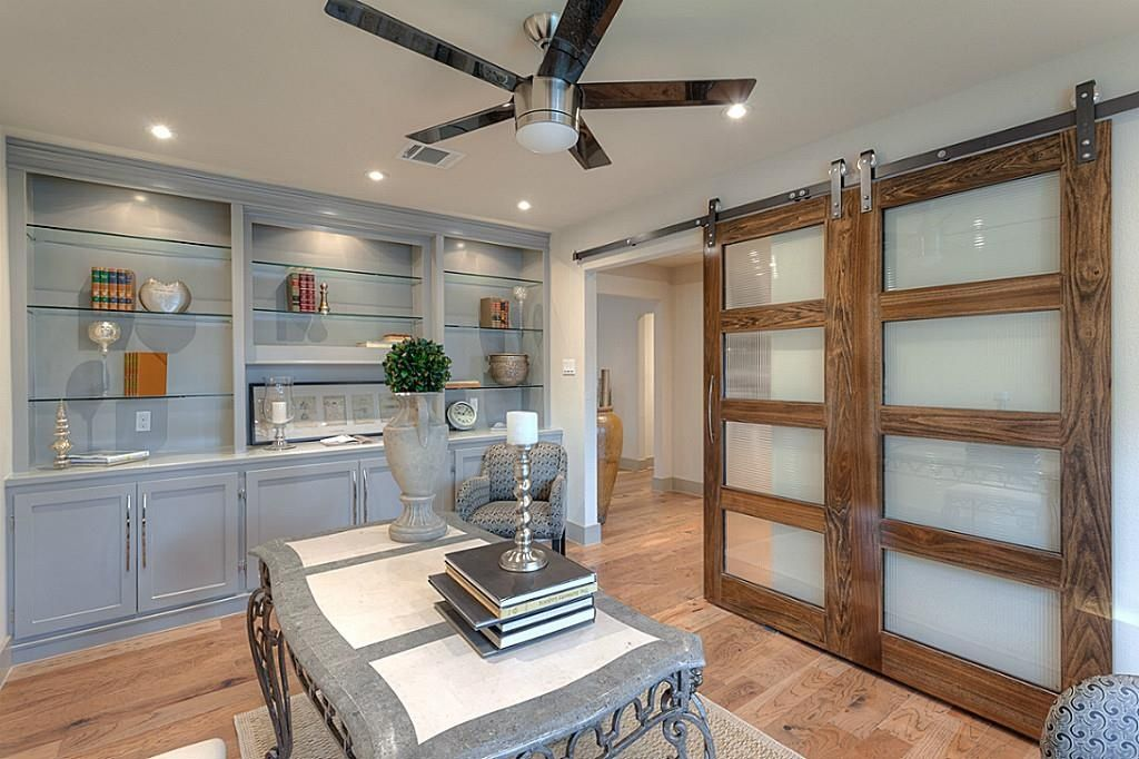 Transitional Home Office with Harvard products strap black