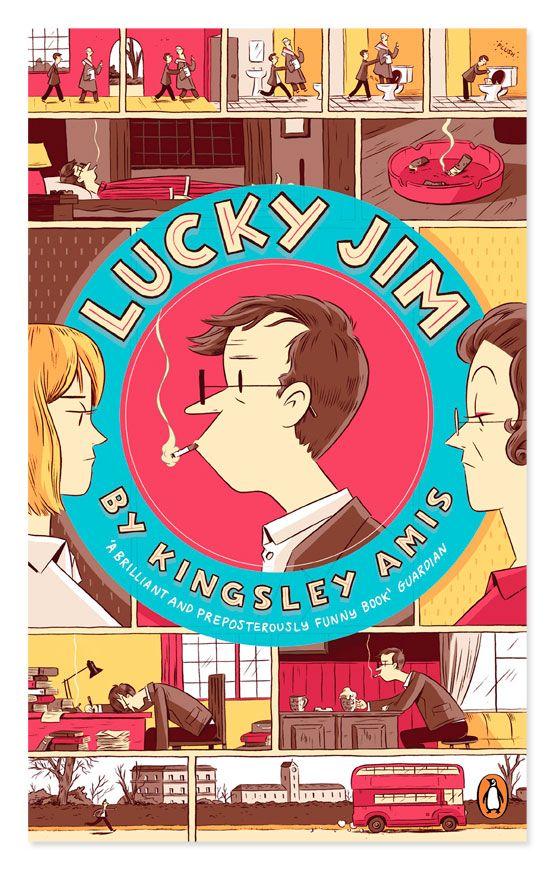 Penguin Essentials Lucky Jim Artwork By Luke Pearson Book Cover Design Penguin Books Book Cover