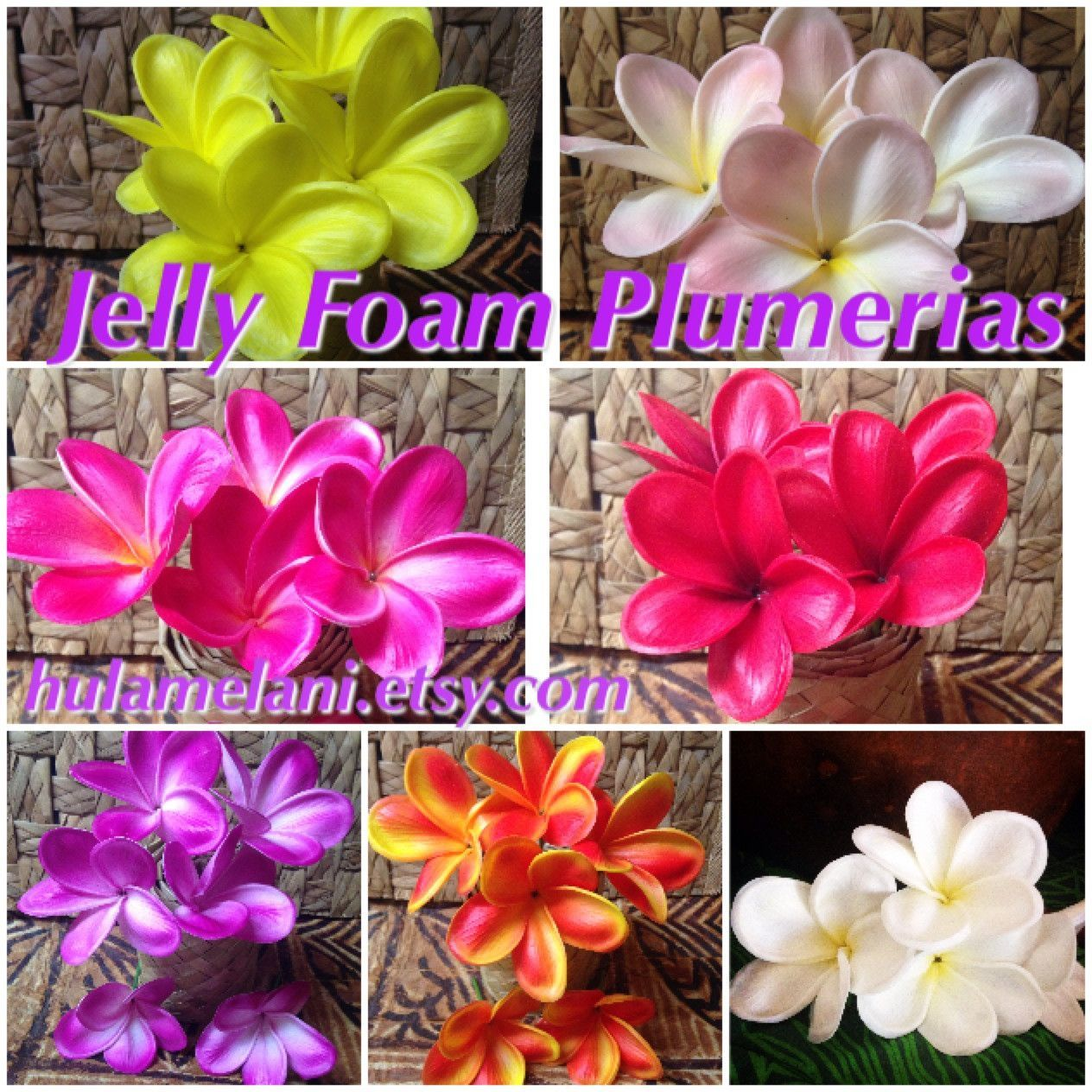 Jelly Foam Plumeria Flowers Pick Plumeria Flowers Elegant Party Decorations Flowers