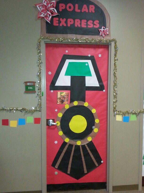 Polar Express Classroom Decoration Ideas ~ Class door polar express classroom bulletin board