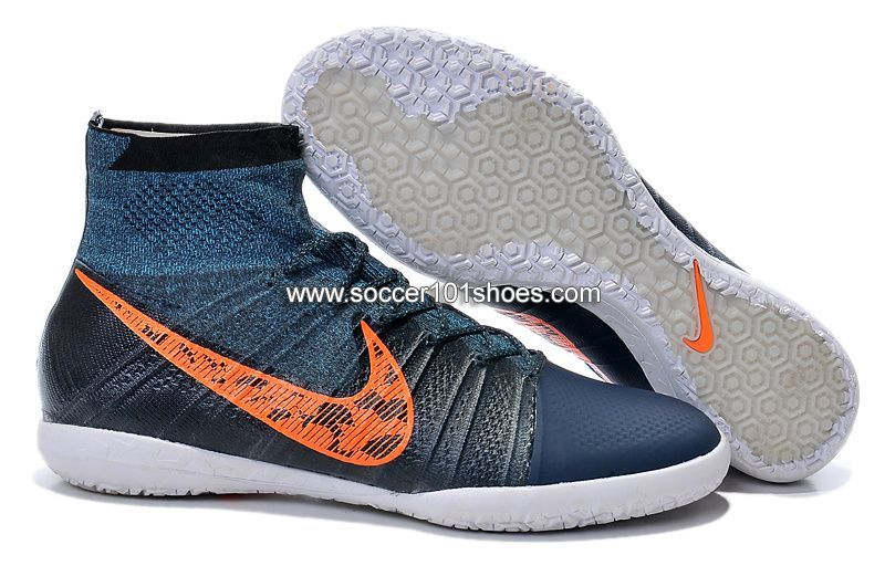 08a08b232cb3 Nike Men's Elastico Superfly Indoor IC Soccer Shoes Hi Top Football Boots  Navy Blue $73.00
