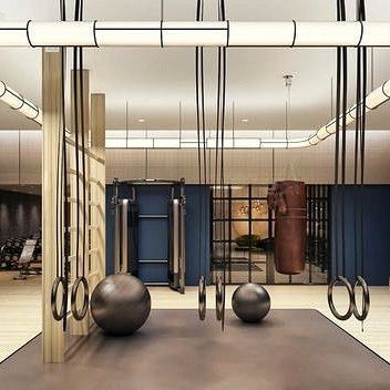 Lucas Hugh On Instagram This Beautiful Gym At Hampstead Manor Is Designed By Johnson Ribolla Gym Design Interior Design Gym Design