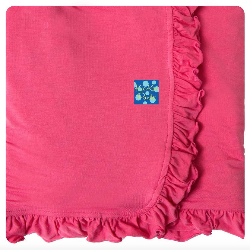 Summer Ruffle Stroller Blanket