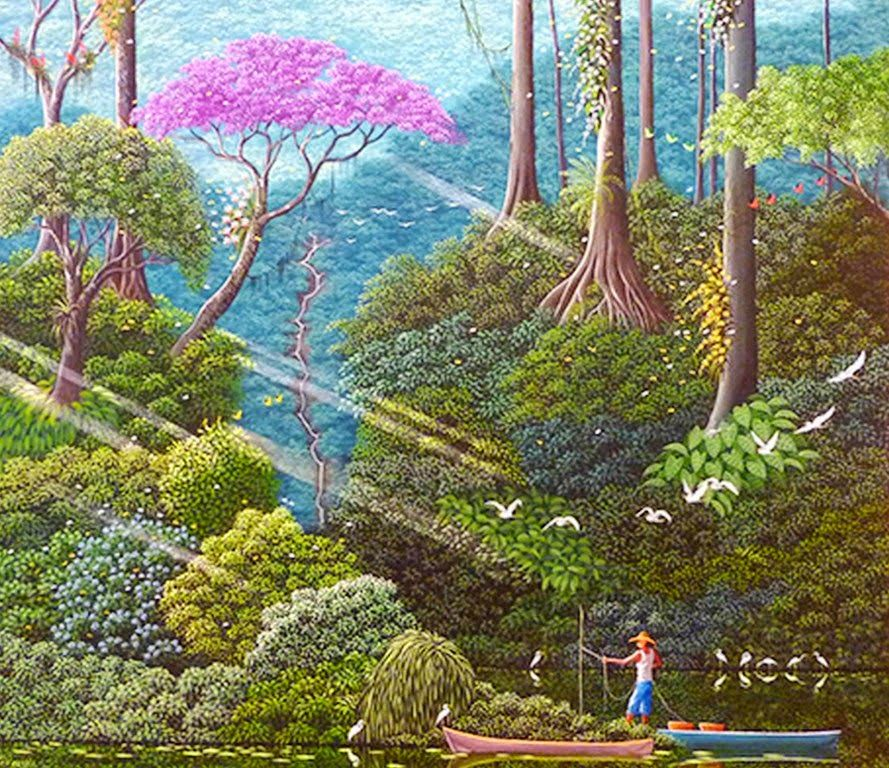pinturas-decorativas-de-paisajes-naif Art - Naive Tropical