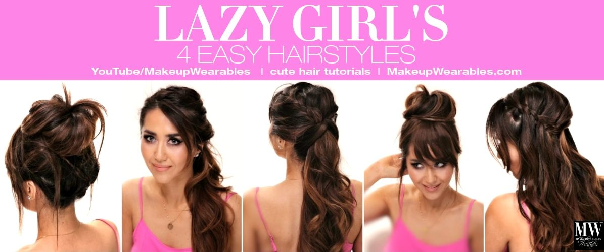 In this step-by-step hair tutorial video, learn how to create 4 easy ...
