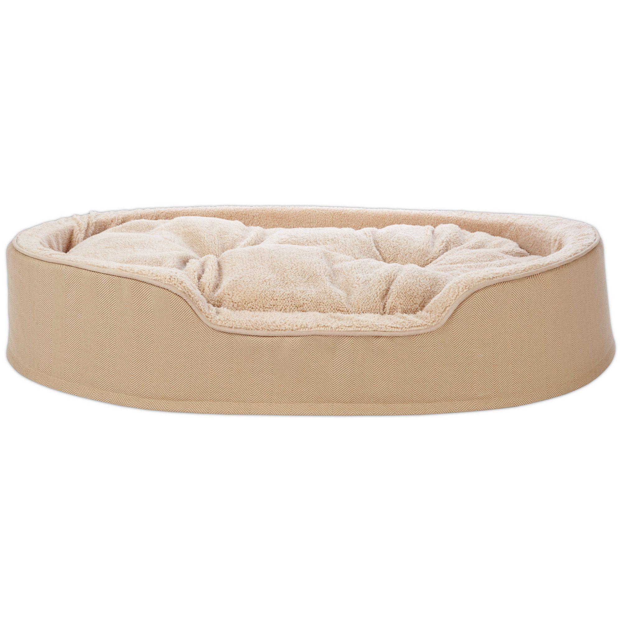 Harmony Cuddler Orthopedic Dog Bed In Khaki 43 L X 27 W