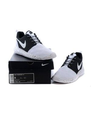 cf0e68f91bb7 Womens Mens Nike Roshe Run Custom ID Mesh White Black White
