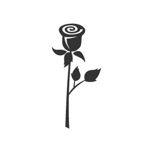 Flower Clipart Black Cute Lonely Rose With White Background Download Free Flower Clipart Designs Gall Flower Clipart Free Flower Clipart White Background