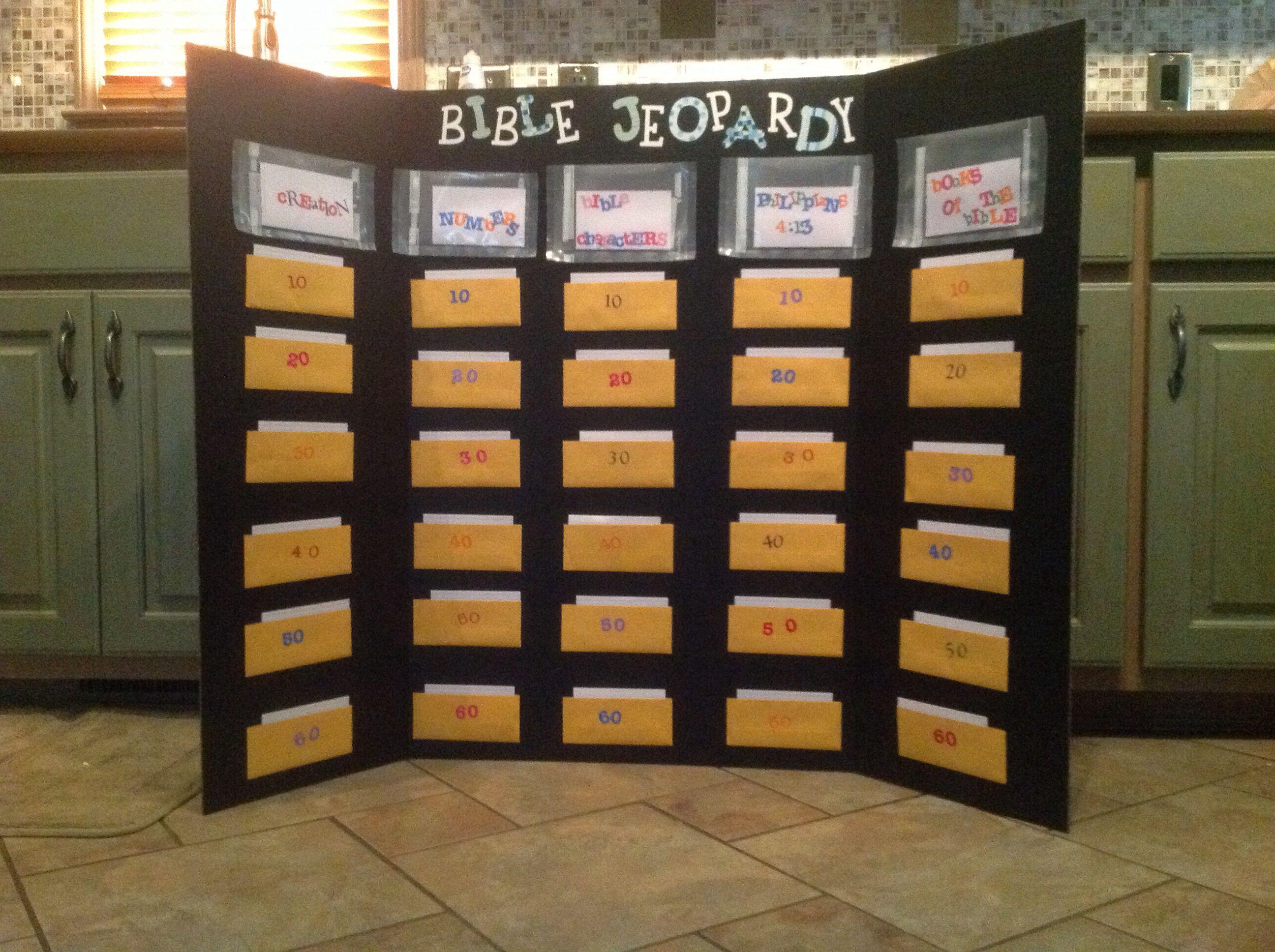 Bible jeopardy … | Games | Churc…
