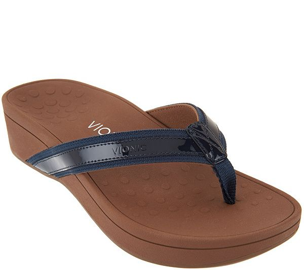 Vionic Platform Leather Sandals - High