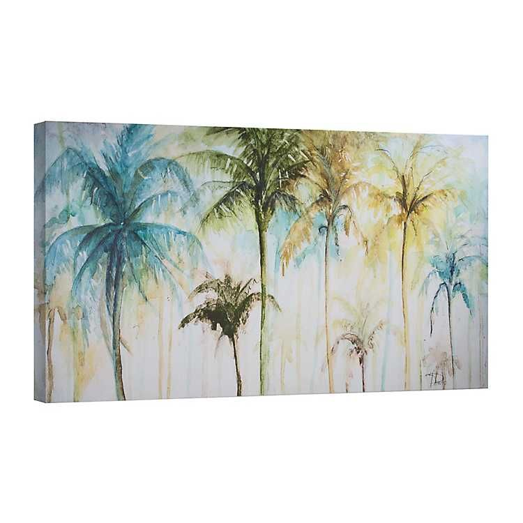 Watercolor Palm Trees Canvas Art Print Palm Tree Art Tree
