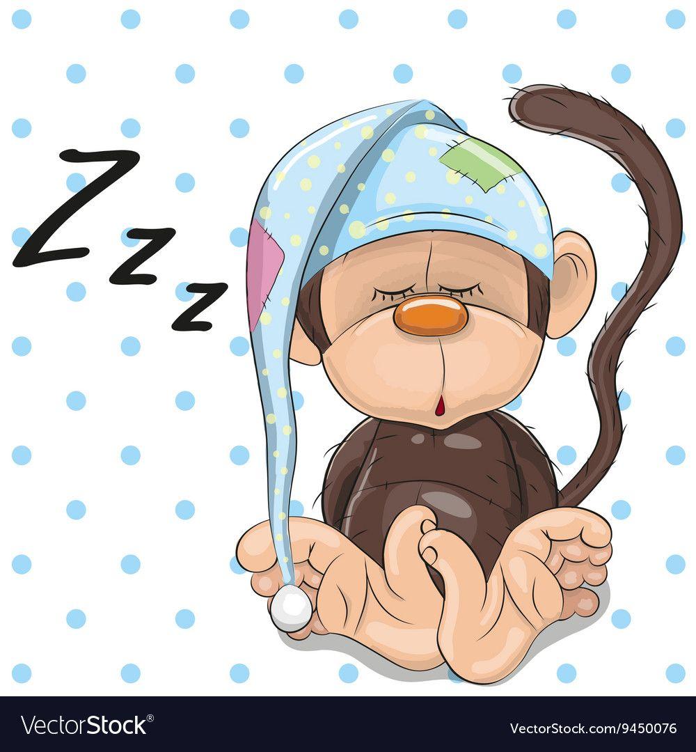 Sleeping monkey royalty free vector image vectorstock craft