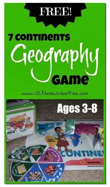 Geography: Free 7 Continents Geography Game | Continents ...