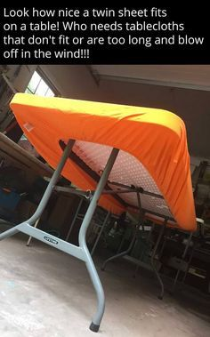 A Fitted Sheet Is Perfect For A Long Folding Table!