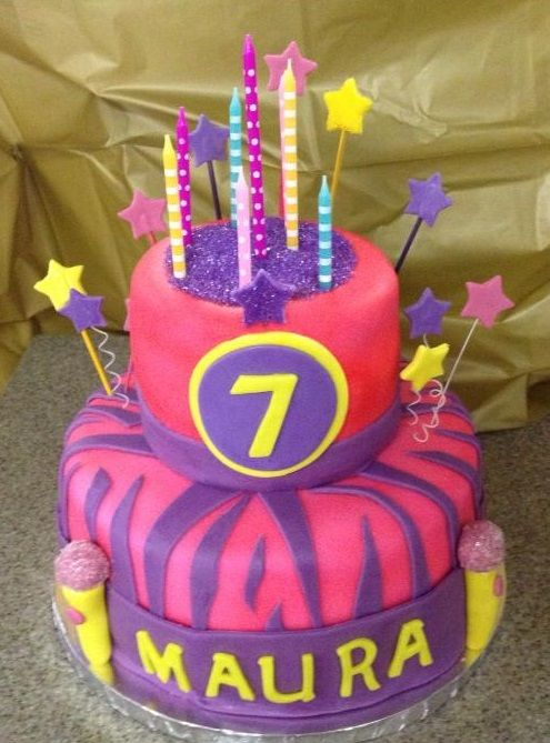 a Rock and Roll birthday cake for a 7 Year old I had such a blast