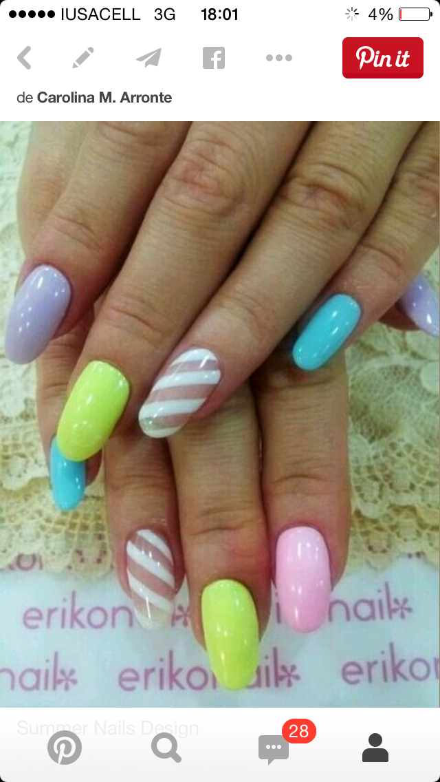 Pin by Erica Brewer on Likes | Pinterest | Manicure, Neon nails and ...