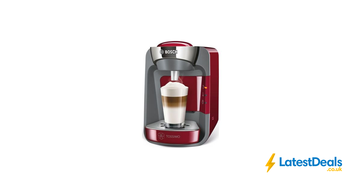 TASSIMO by Bosch SUNY Coffee Machine Red or Black, £57