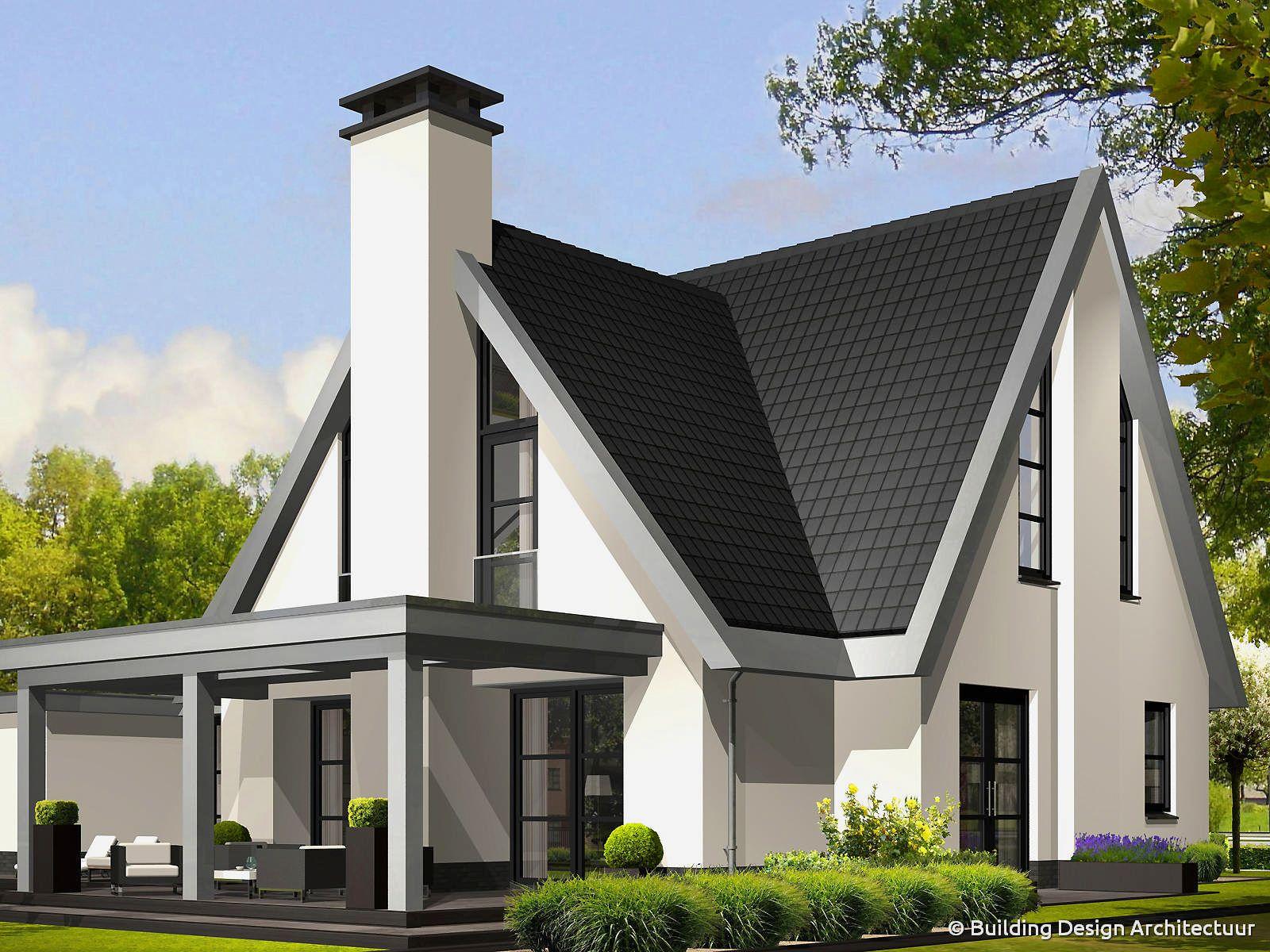 Veranda zinken dakrand houses garden pinterest for Huizen architectuur