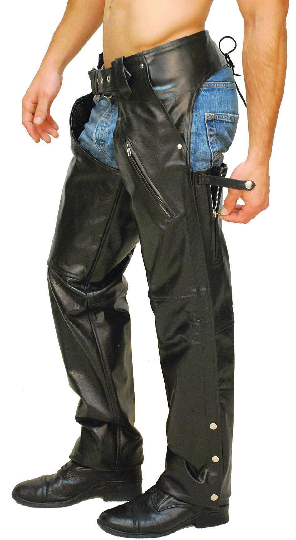 Premium Buffalo Pocket Chaps W Zip Thigh C2255zk Chaps Motorcycle Chaps Men