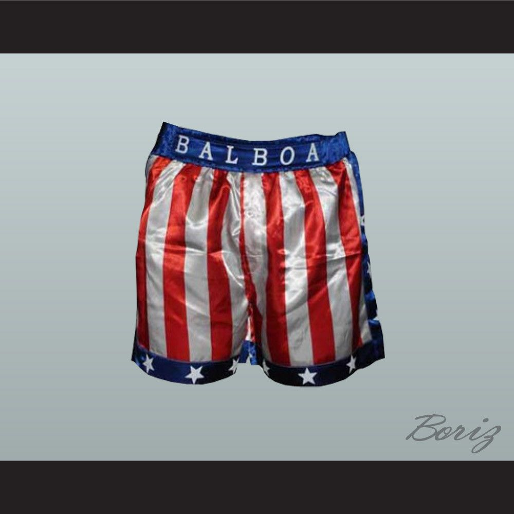 Sylvester Stallone Rocky Balboa American Flag Boxing Shorts All Sizes Shipping Time Is About 3 5 Weeksi Have All Boxing Shorts Sylvester Stallone Rocky Balboa