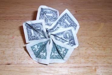 Origami Money Flowers Origami Money Flowers Simple Design