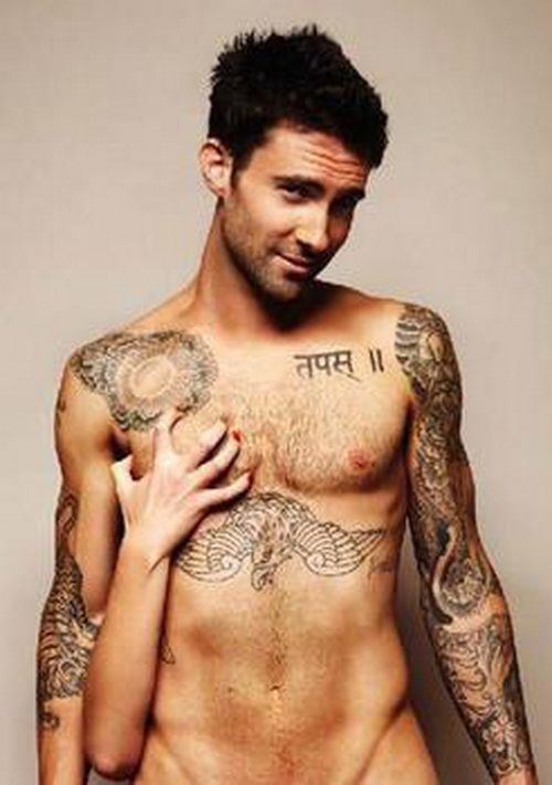 Sexy Tattoos of Adam Levine: Sexy Adam Levine Tattoo ~ tattooeve.com Tattoo Design Inspiration