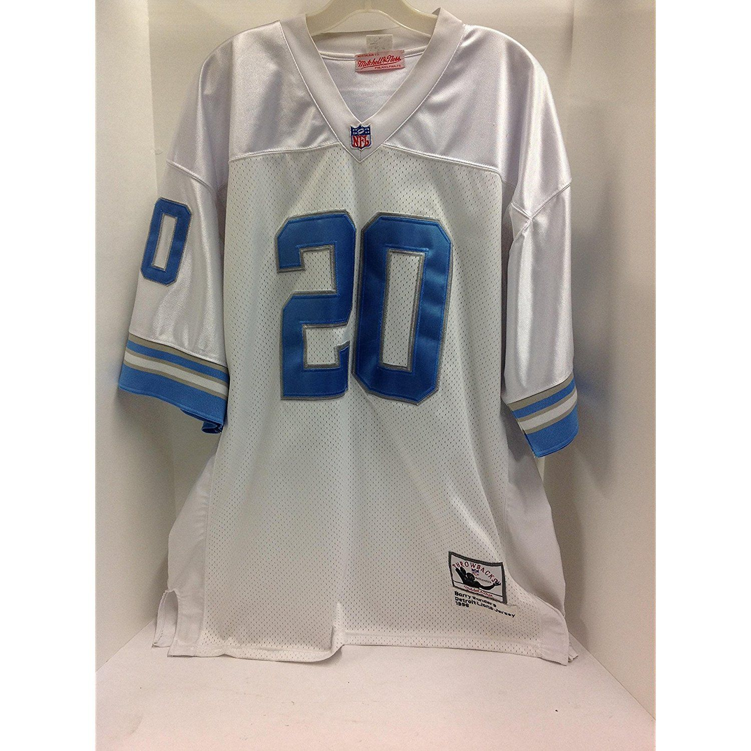 dadca0430c6 Preowned Barry Sanders Detroit Lions Jersey from 1996 - Adult Size  54  Throwbacks Jersey Made by Mitchell  SportsCollectibles