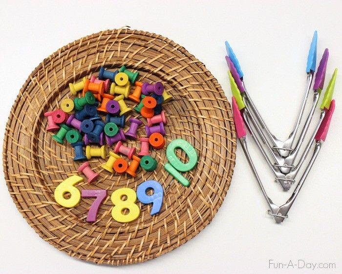 Fine Motor Number Activity for Preschoolers