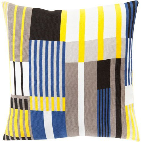 Teori Yellow and Black 18-Inch Pillow Cover
