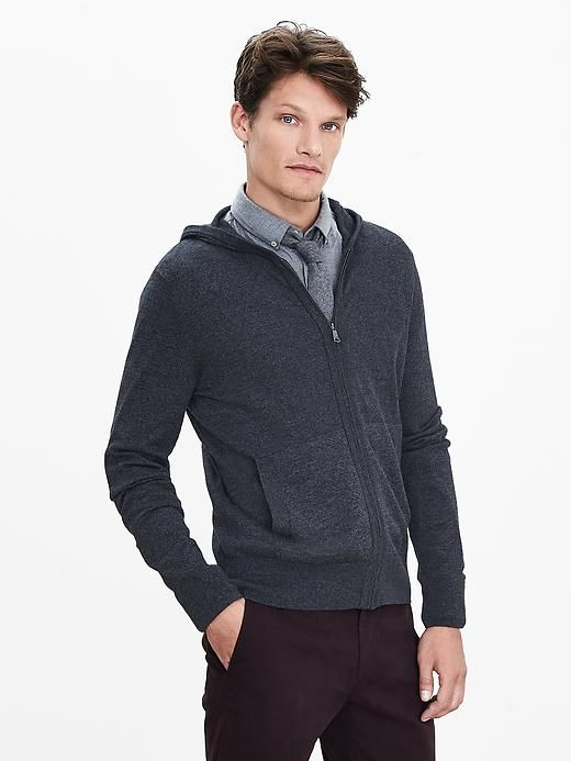 Silk Cotton Cashmere Sweater Hoodie | Banana Republic | Wish List ...