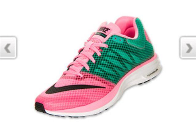 Nike pink green lunar glide