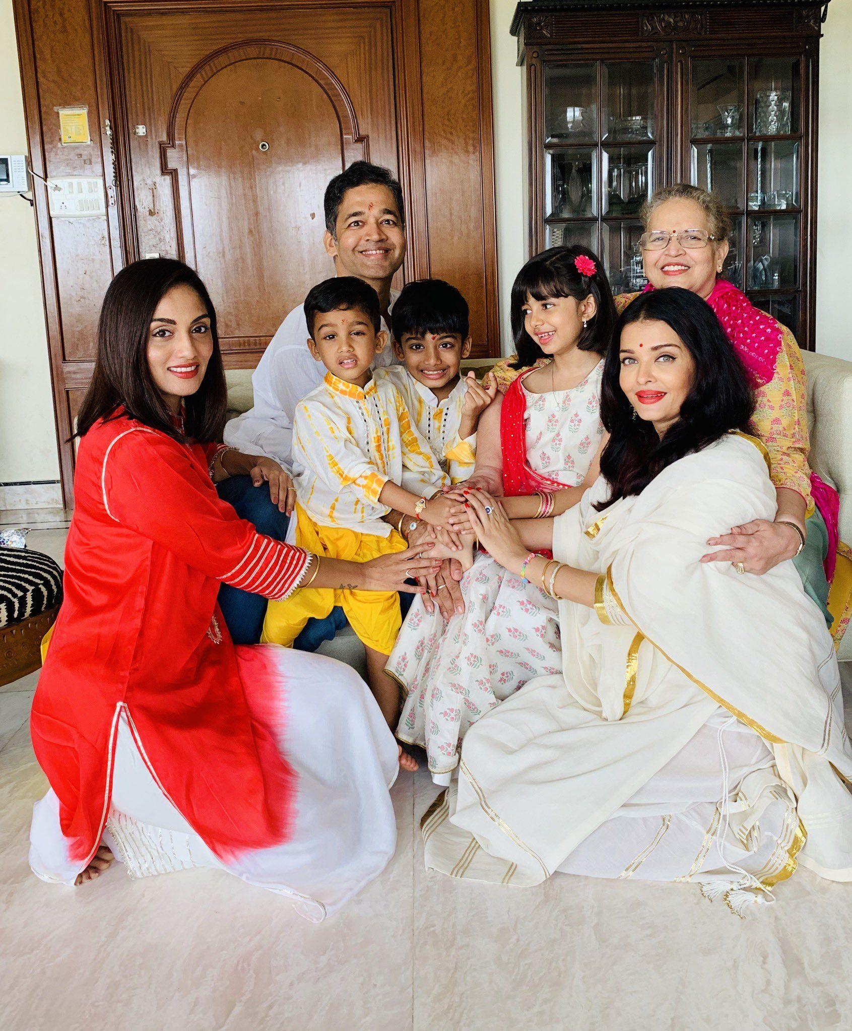 Shrima Rai On Twitter Aishwarya Rai Rakhi Festival Beautiful Actresses