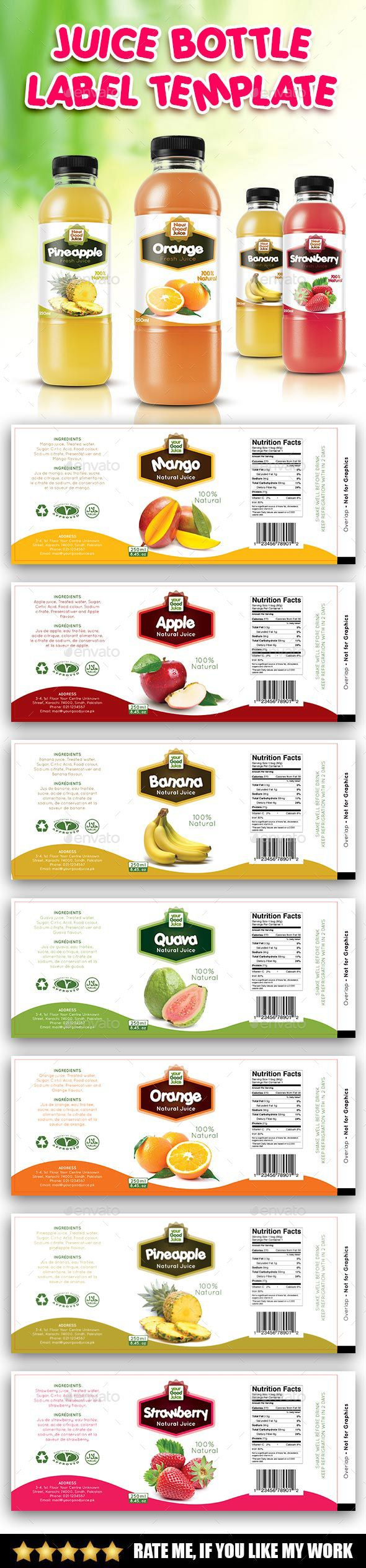 Juice Bottle Label Template  Label Templates Juice Bottles And Juice