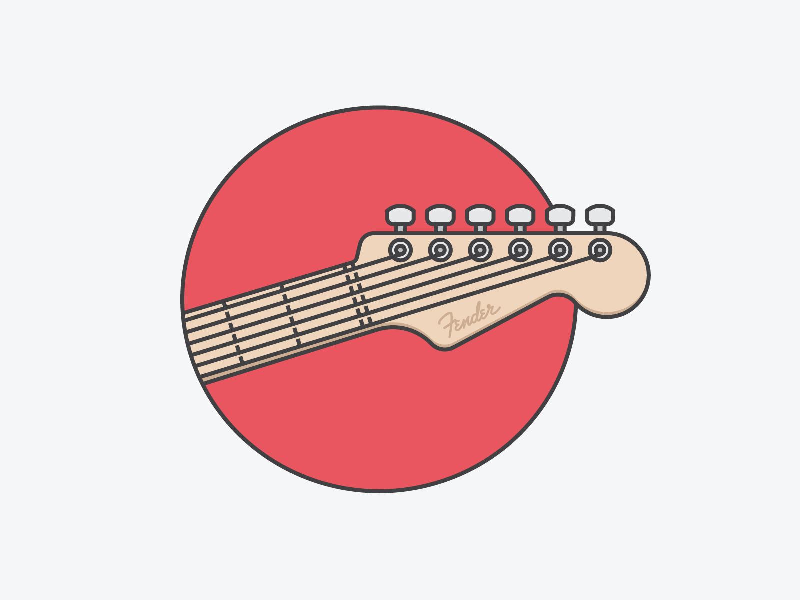 Fender Fullsize Png By Igor Chebotarev Guitar Illustration Music Poster Design Guitar Drawing