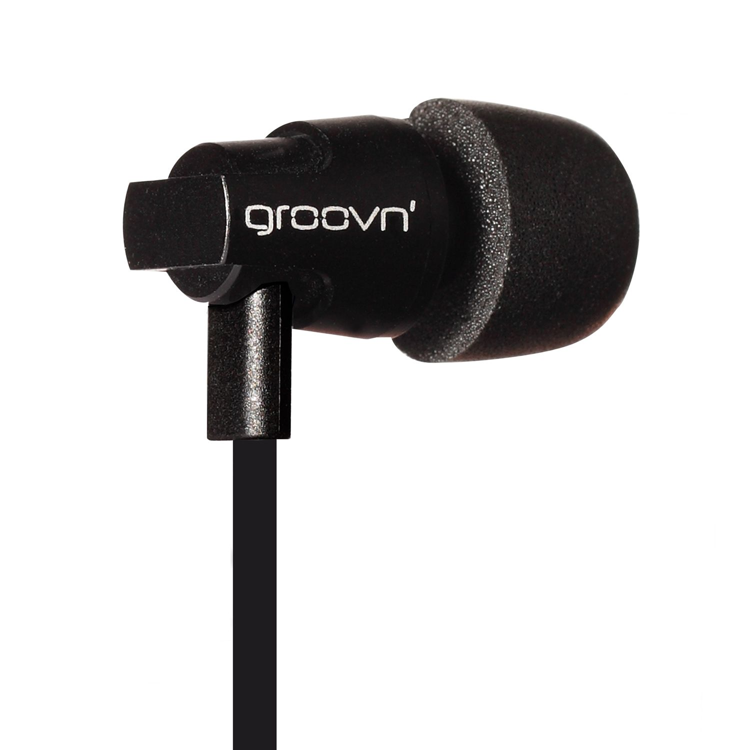 4ac98036163d50 Groovn' Jazz black earphones with superb audio performance for an elegant  and immersive listening experience. Memory Foam Tips - Microphone - Remote  and ...