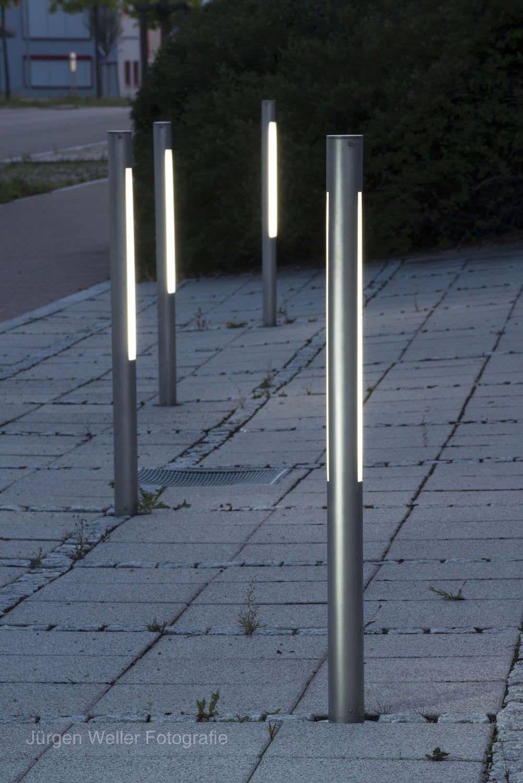 Slim Sleek Contemporary Bollards Exterior Lighting In