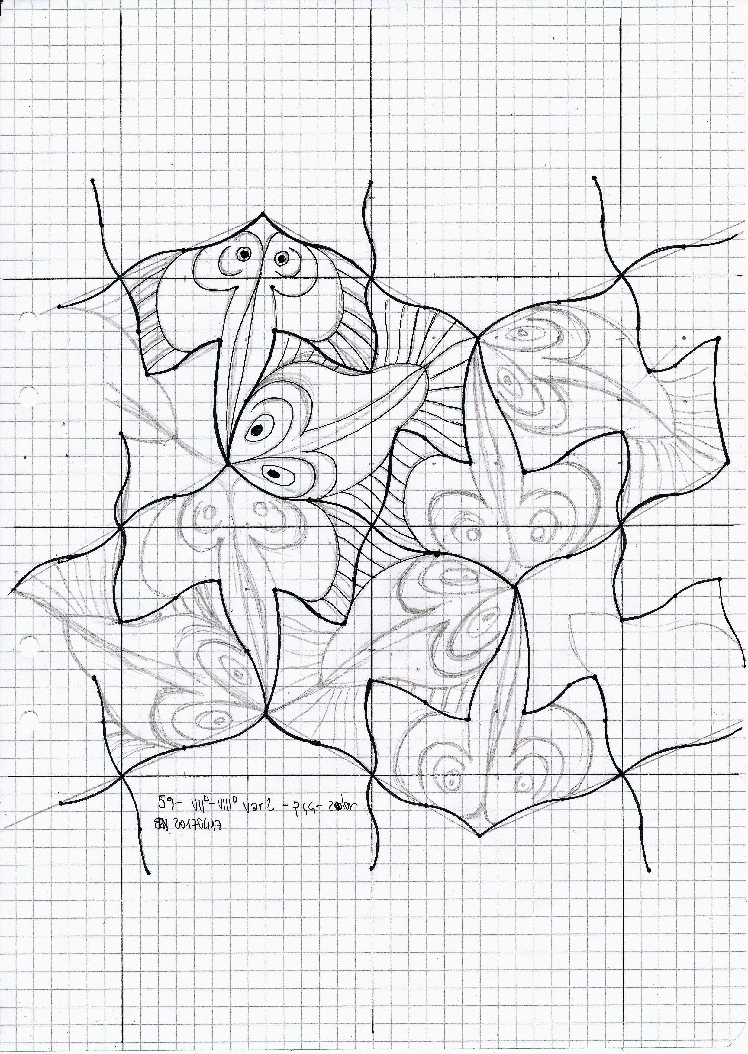 MC Escher nr 59 #tessellation #tiling #wallpaper #geometry #symmetry ...