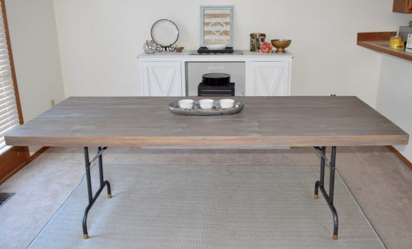 We Can Make A Facade For Folding Tables To Get The Farmhouse Look On The  Cheap, And Still Have Folding Tables To Use When Necessary.