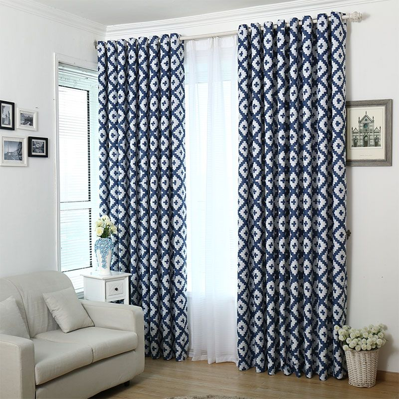 Modern Geometric Curtain Panels Mediterranean Geometric Curtains