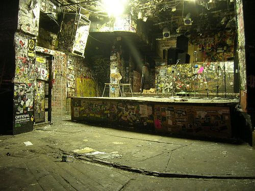 CBGB stage by dylan666, via Flickr