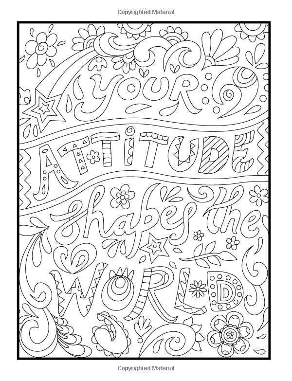 Amazoncom Inspirational Quotes An Adult Coloring Book with