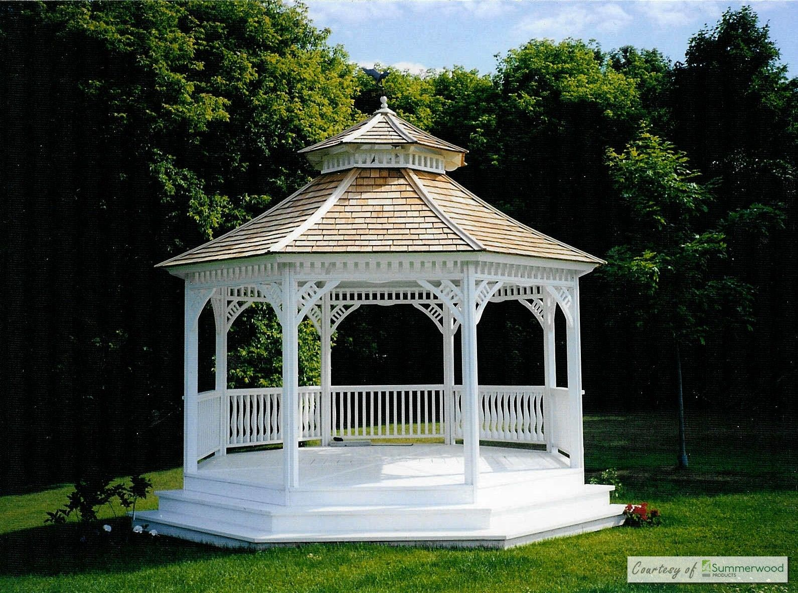 Victorian Lavish Gazebo Plan In Garden Victorian Gazebo Wooden Gazebo Gazebo Plans