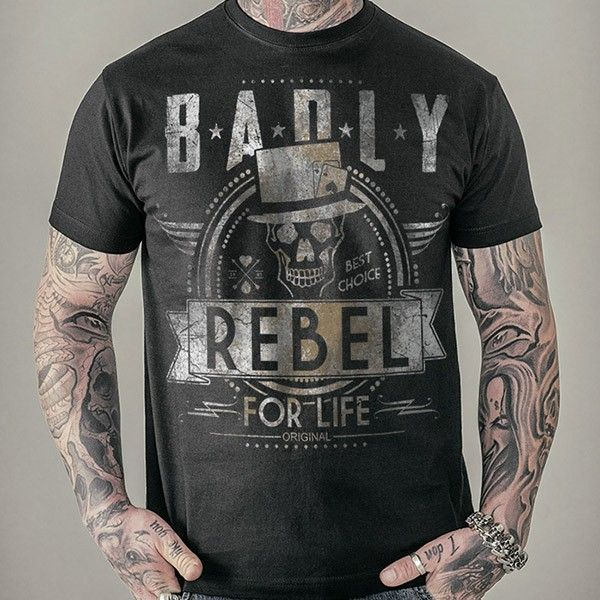 "T-Shirt ""REBEL FOR LIFE"""