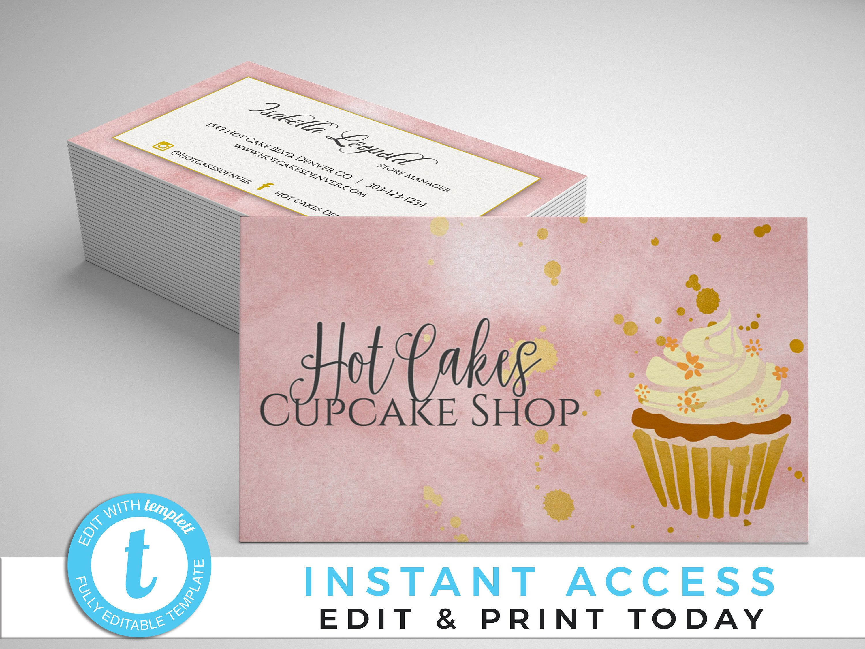 Bakery Business Cards Cupcake Business Cards Business Cards