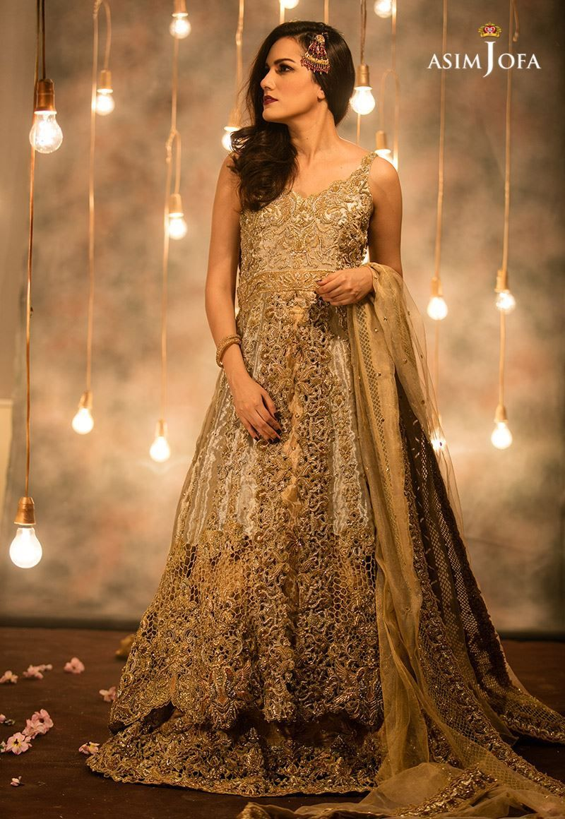 Asim jofa newly bridal collection for womenus mehndi designs