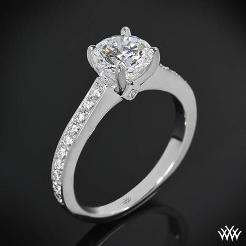 38976eb08 18k White Gold Scarlet Diamond Engagement Ring | rings | Anillos ...